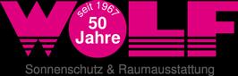 Das Wolf Sonnenschutz und Raumgestaltung Logo.